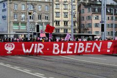 March 8th International Women`s Feminist Fighting Day in Zurich, Switzerland 2020