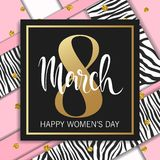 8 March abstract design. International Womens Day Background.  Stock Photos
