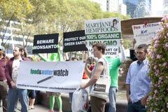 March Against Monsanto. New York City, NY, USA - October 12, 2013: Participants at the March Against Monsanto Demonstration Royalty Free Stock Photos