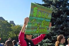 March Against Monsanto, Toronto Stock Photos
