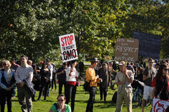 March Against Monsanto, Toronto Stock Image