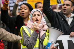 March Against Racism - London, UK. Royalty Free Stock Photos