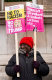 March Against Racism National Demonstration - London - United Kingdom. London, UK. 17th March 2018. EDITORIAL - Protester holding a placard at the March Against royalty free stock photos