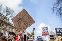 March against Trump policies Royalty Free Stock Image