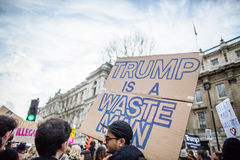 March against Trump policies Stock Photography