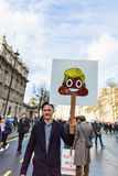 March against Trump policies Royalty Free Stock Images