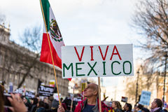 March against Trump policies Stock Images