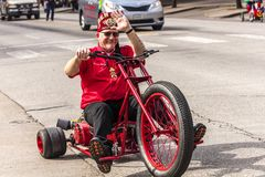 MARCH 3, 2018 - AUSTIN TEXAS - Shriners celebrate Texas Independence Day Parade on Congress. At, Star stock image