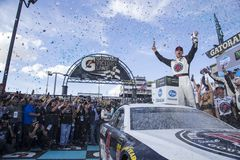 NASCAR: March 11 Ticket Guardian 500k. March 11, 2018 - Avondale, Arizona, USA: Kevin Harvick 4 celebrates his win of the Ticket Guardian 500k at ISM Raceway in