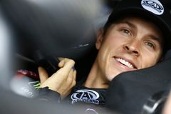 NASCAR: March 10 Ticket Guardian 500k. March 10, 2018 - Avondale, Arizona, USA: Trevor Bayne 6 straps into his car to practice for the Ticket Guardian 500k at stock image