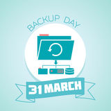 31 March Backup Day. Calendar for each day on March Stock Images