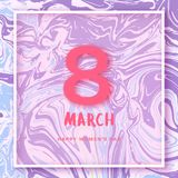 8 March banner. Happy women's day. Vector Illustration. 8 March. Happy women's day square cover. Template for banner, poster, flyer, brochure Stock Photo