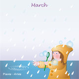 March base calendar to add the days Royalty Free Stock Images