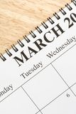 March on calendar. Royalty Free Stock Photos