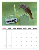 March 2014 calendar Royalty Free Stock Image