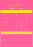 2017 March calendar design simple | colorful modern business Stock Image
