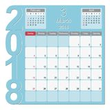 March 2018 Calendar Planner Design. 2018 Calendar Planner Design, March 2018 year  calendar design Stock Photos