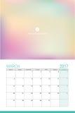 March 2017 calendar Stock Photos