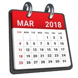 March 2018 calendar vector illustration vector illustration