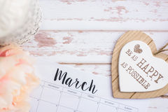 March calendar Royalty Free Stock Photography