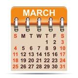 March calendar of 2018 year - vector. March calendar of 2018 year – stock vector Stock Illustration