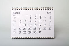 March. Calendar of the year two thousand seventeen. Royalty Free Stock Images