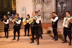 March 5,2014 -Callejonedas, street singers in Guanajuato,Mexico Stock Images