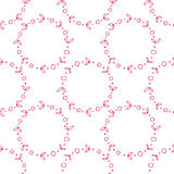 8 march card. Flower wreath seamless pattern. Tileable background for 8 March vector illustration
