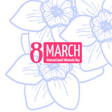 8 march card. 8 march. Woman`s day greeting card, template royalty free illustration