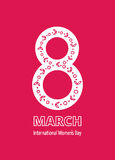 8 march card. 8 march. Woman`s day greeting card, template vector illustration