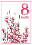 8 March card. Woman's day card. Vector illustration vector illustration