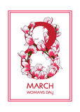 8 March card. Royalty Free Stock Photography