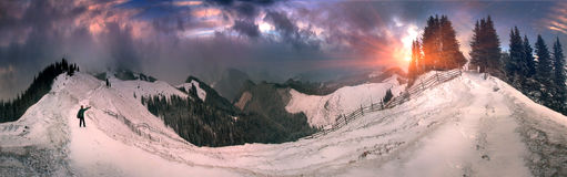 March Carpathians Royalty Free Stock Photography