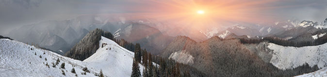 March Carpathians Royalty Free Stock Image