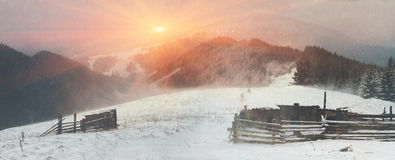 March Carpathians Stock Image