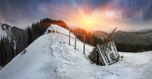 March Carpathians stock photos