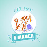 1 March cat day stock illustration