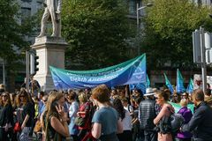 March For Choice by the Abortion Rights Campaign ARC. Dublin, Ireland- 30 September 2017: March For Choice by the Abortion Rights Campaign ARC. The Stock Images