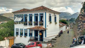 March 25, 2016, city of Ouro Preto, Minas Gerais, Brazil, colonial mansion. March 25, 2016, city of Ouro Preto, Minas Gerais, Brazil, colonial mansion in the Royalty Free Stock Image