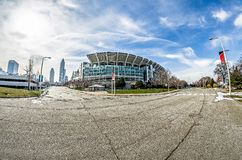 March 2017 Clevelan Ohio - Cleveland Brouwns NFL stadium at dayt Royalty Free Stock Photos