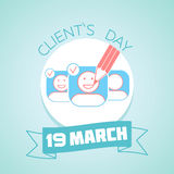 19 March Clients Day Royalty Free Stock Images