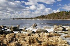 March coast scenery Royalty Free Stock Photos