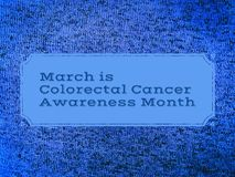 March is colorectal cancer awareness month. Sign for colorectal cancer awareness month vector illustration