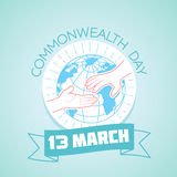 13 March Commonwealth Day. Calendar for each day on March Royalty Free Stock Images
