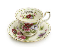 March Cup and Saucer Stock Photo