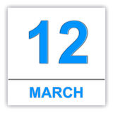 March 12. Day on the calendar. Stock Photography