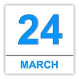 March 24. Day on the calendar. Stock Photo