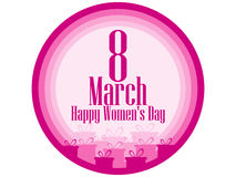 8 March day. International Women`s day. Banner with gift boxes. Vector Royalty Free Stock Photography