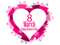 8 March day. International Women`s day. Hearts with gift boxes. Vector Royalty Free Stock Photo