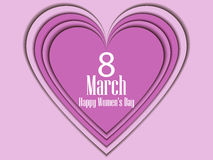 8 March day. International Women`s day. Paper heart. Vector. Illustration Royalty Free Stock Photo